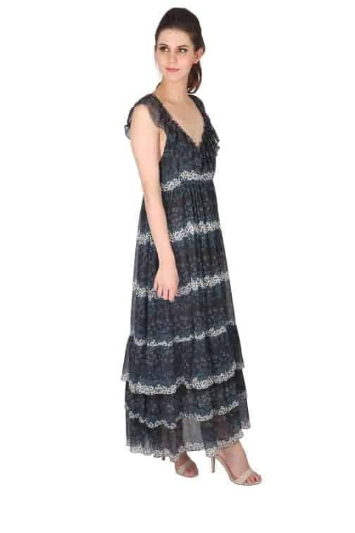 a person wearing a black dress