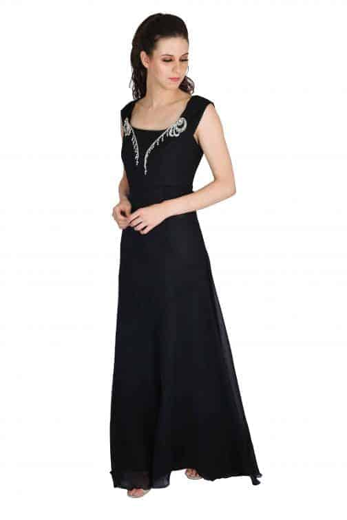 buy black evening gowns